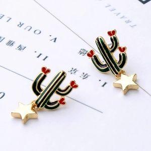 Cute Lil Cactus Flower Earrings